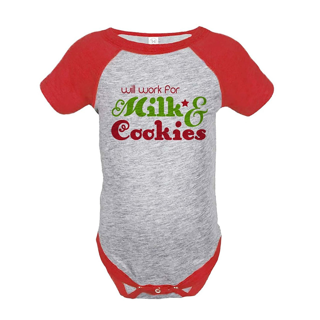 7 ate 9 Apparel Baby's Funny Christmas Onepiece Red