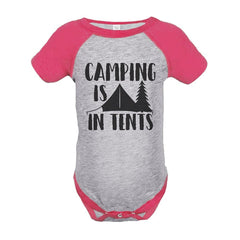 7 ate 9 Apparel Girl's Camping is in Tents Outdoors Raglan Onepiece