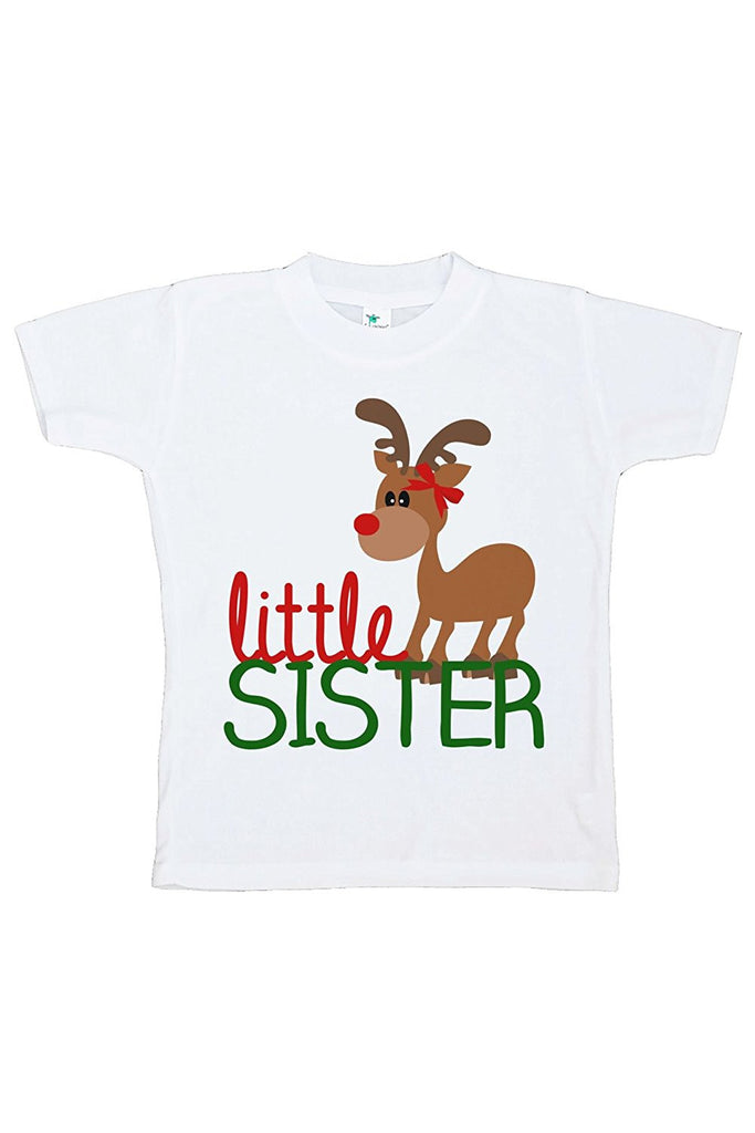 7 ate 9 Apparel Youth Little Sister Christmas T-shirt