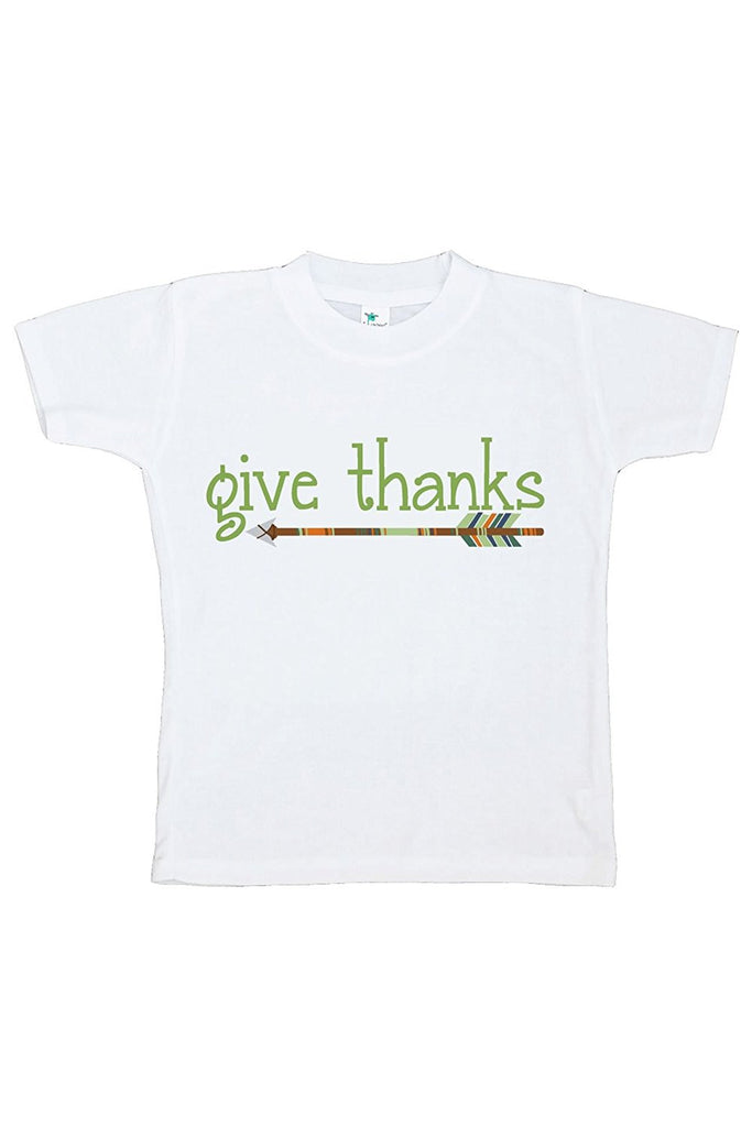 7 ate 9 Apparel Baby's Give Thanks Thanksgiving Tshirt