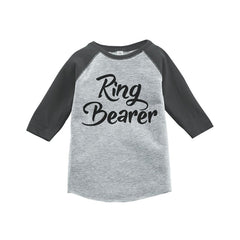 7 ate 9 Apparel Ring Bearer Kids Wedding Raglan Tee