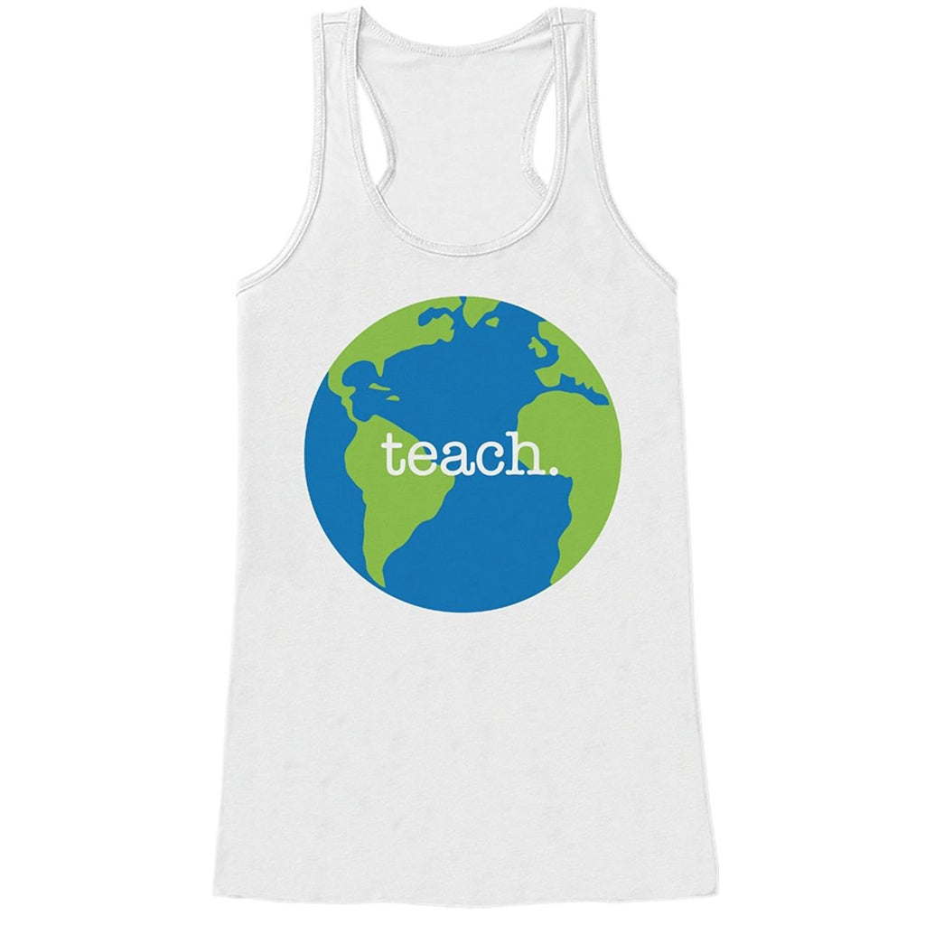7 ate 9 Apparel Womens Teach. Globe Teacher Tank Top
