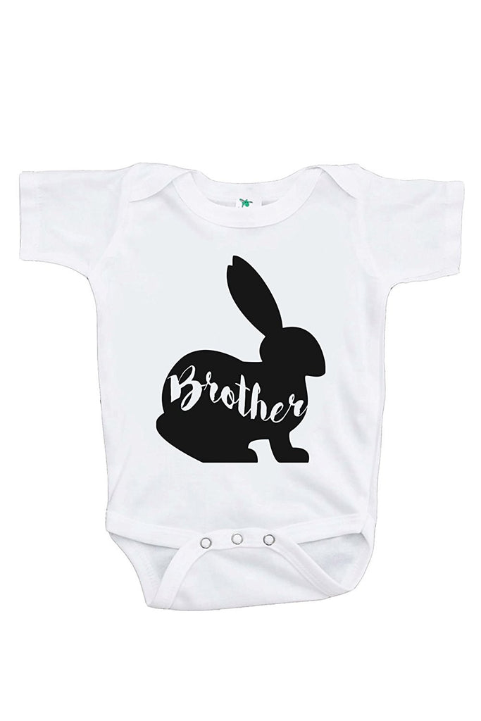 7 Ate 9 Apparel Baby Boy's Brother Bunny Happy Easter Onepiece