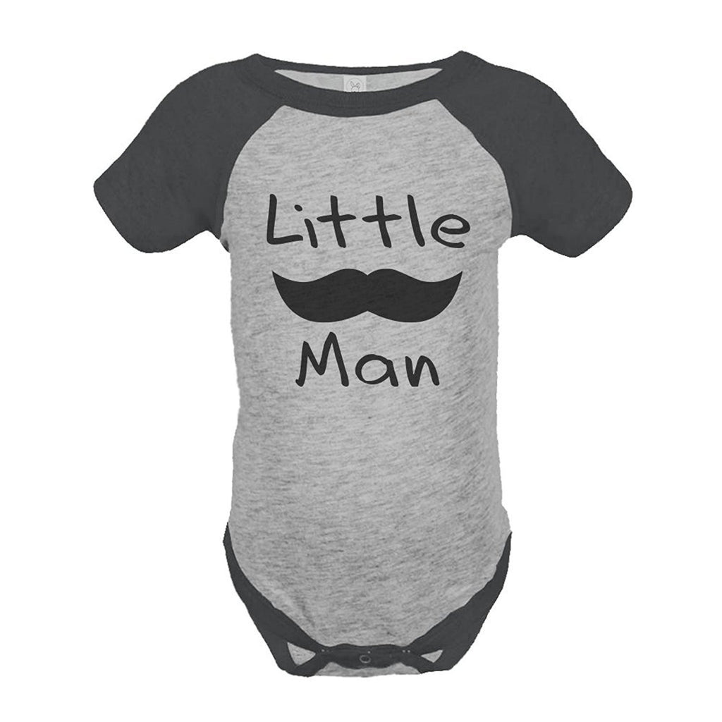 7 ate 9 Apparel Boy's Mustache Little Man Onepiece