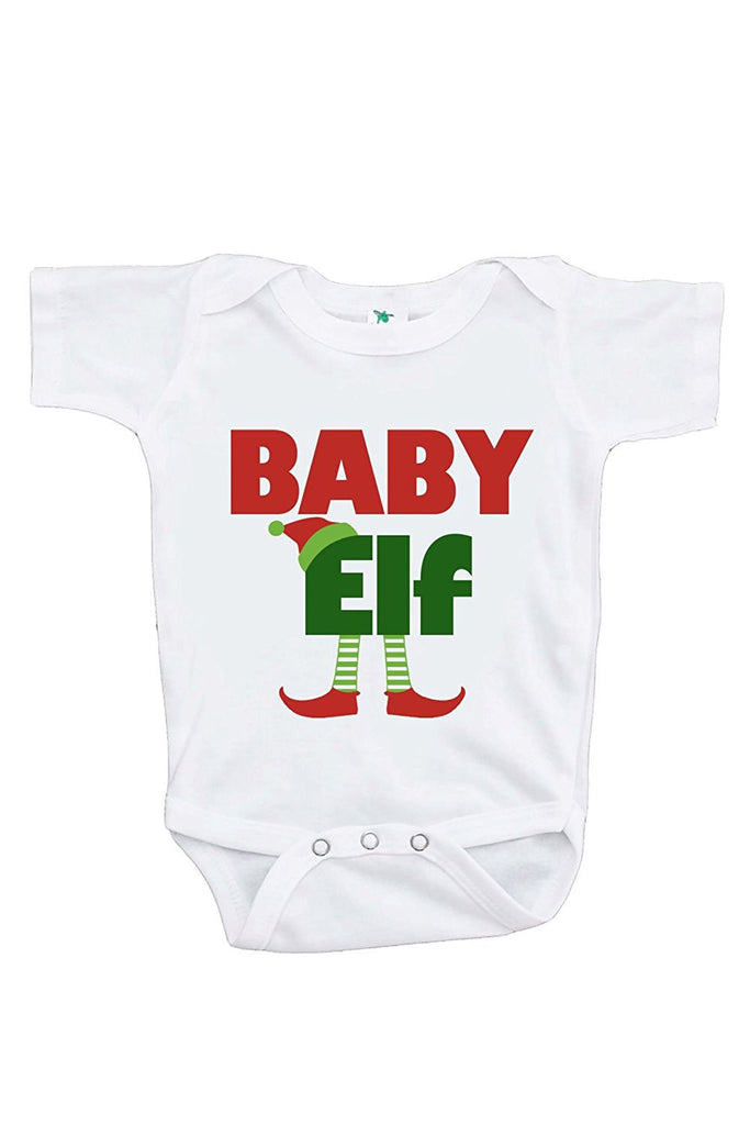 7 ate 9 Apparel Baby's Baby Elf Christmas Onepiece