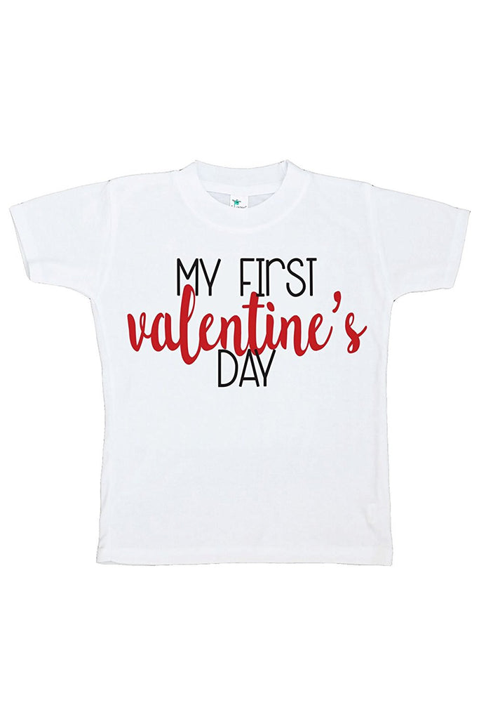 7 ate 9 Apparel Kids My First Happy Valentine's Day T-shirt