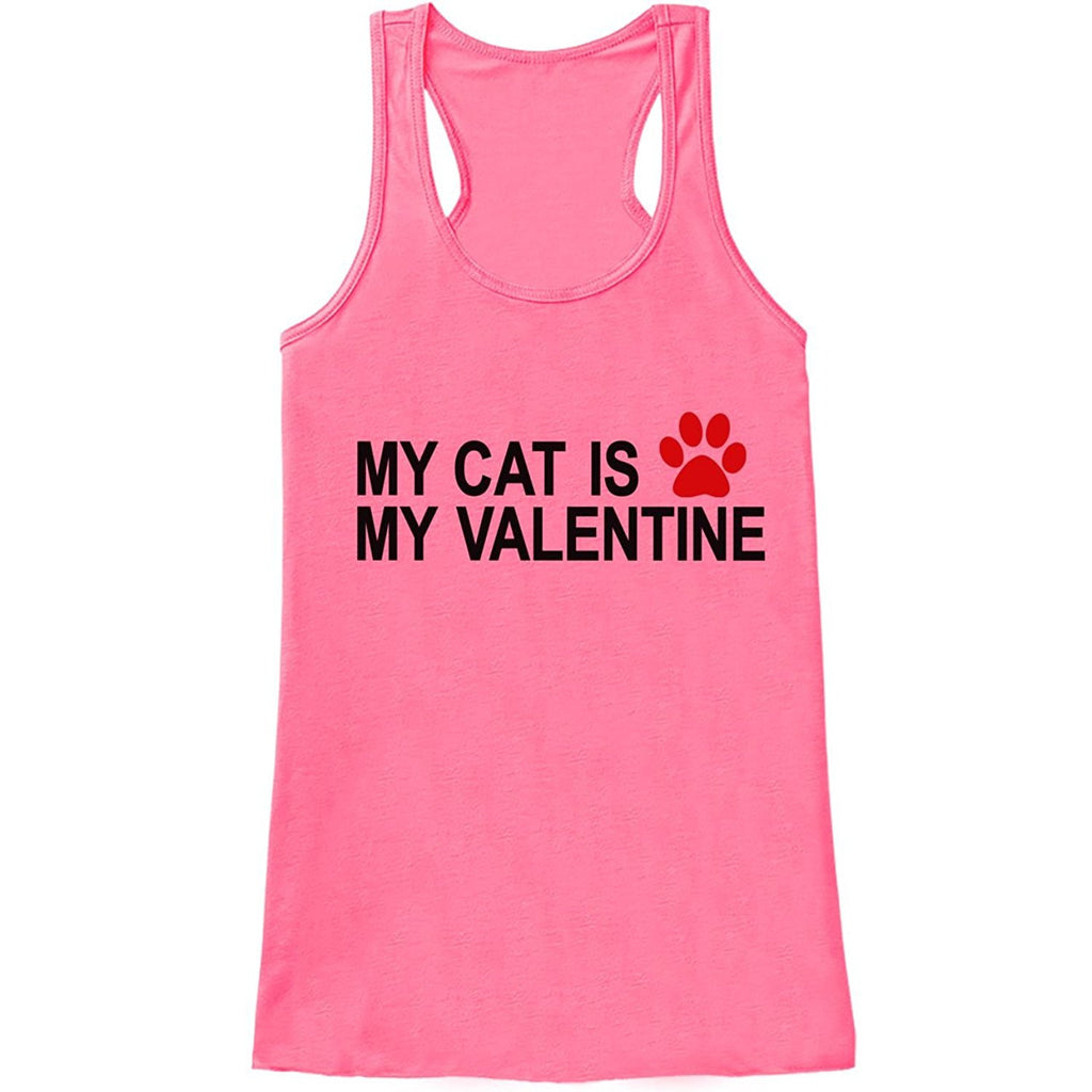 7 ate 9 Apparel Womens Cat Anti Valentine's Day Tank Top