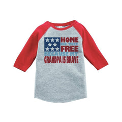 7 ate 9 Apparel Kid's 4th of July Raglan Tee