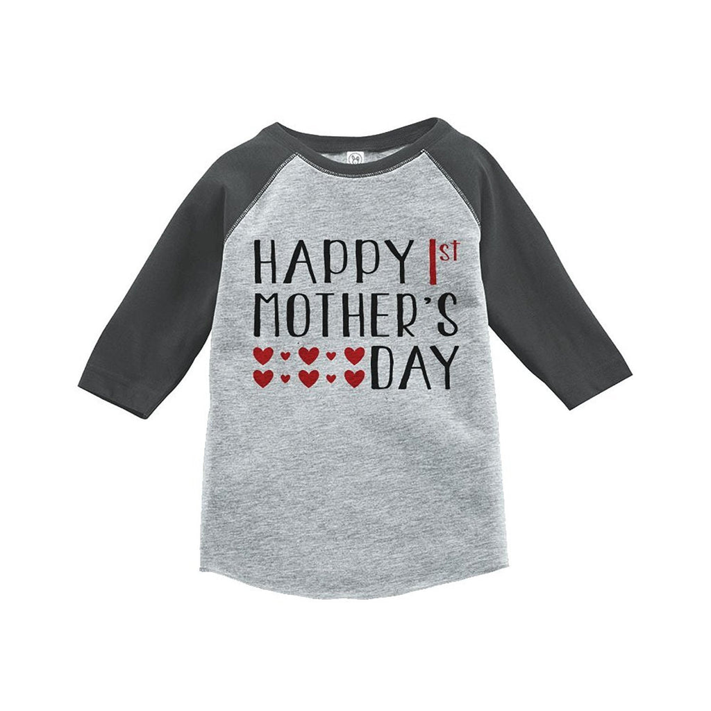 7 ate 9 Apparel Boy's 1st Mother's Day Vintage Baseball Tee
