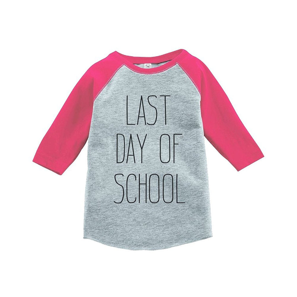 7 ate 9 Apparel Girls Last Day of School Raglan Tee