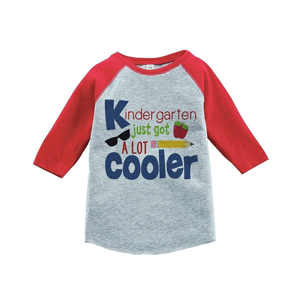 7 ate 9 Apparel Kids Kindergarten School Raglan Tee