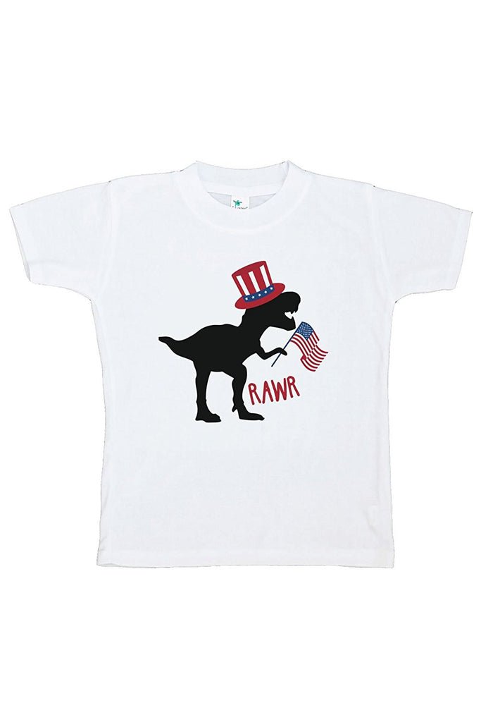 7 ate 9 Apparel Kids Dinosaur 4th of July T-shirt