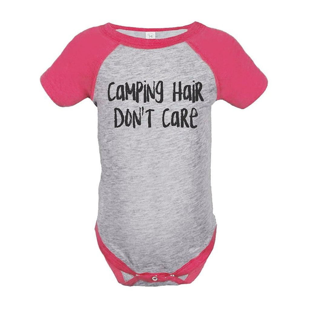 7 ate 9 Apparel Girl's Camping Hair Outdoors Raglan Onepiece