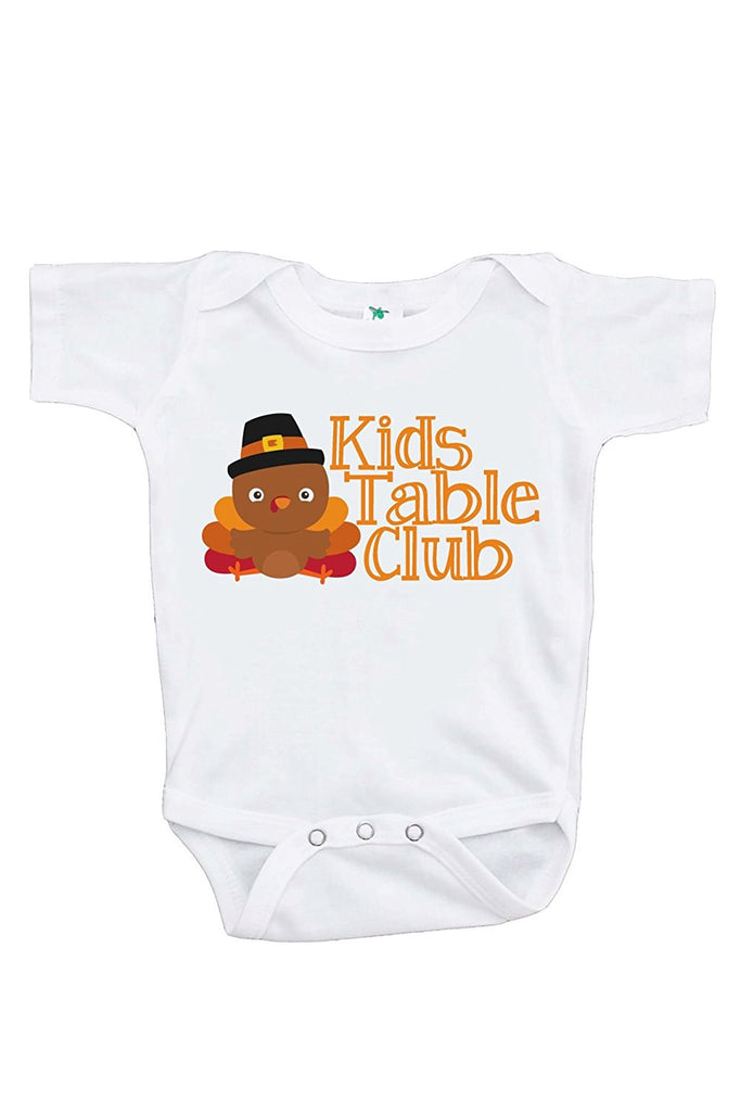 7 ate 9 Apparel Baby Boy's Kid's Table Thanksgiving Onepiece