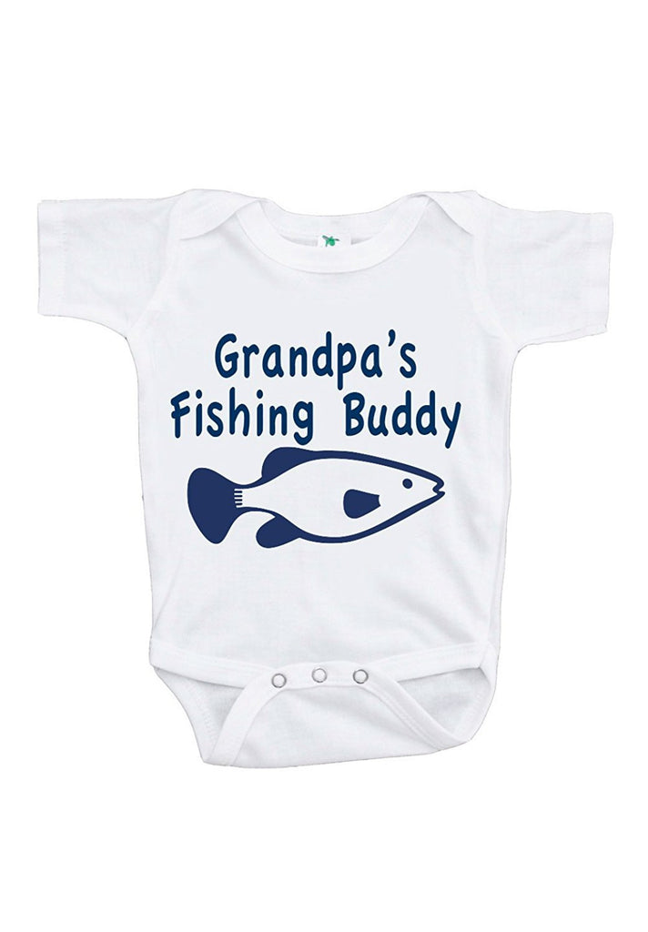 7 ate 9 Apparel Baby Boy's Grandpa's Fishing Buddy Onepiece