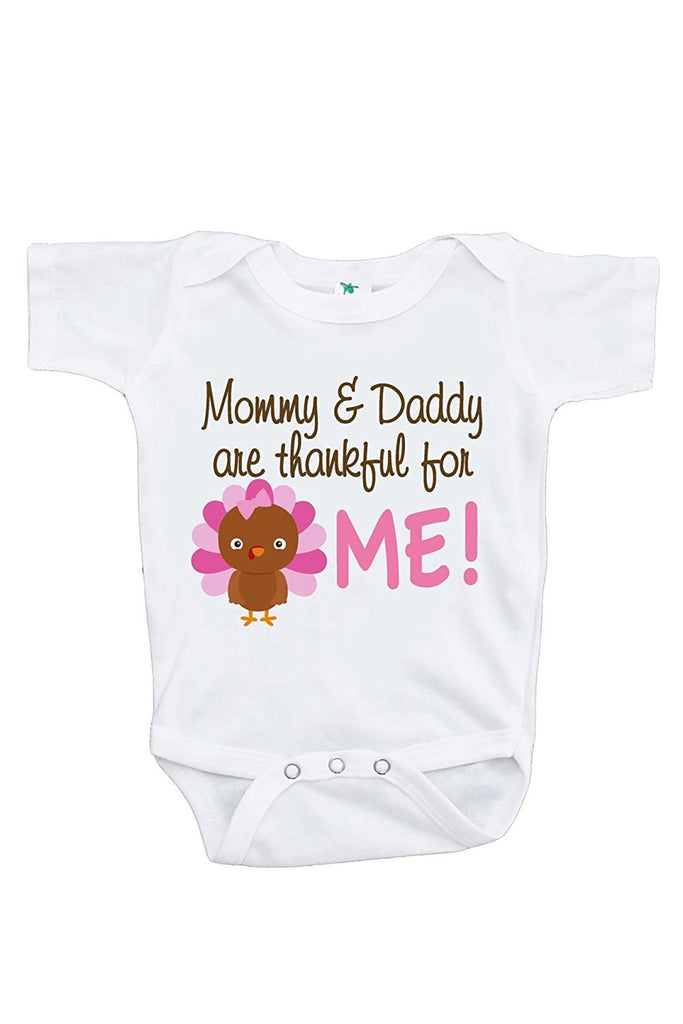 8c16301be4fa 7 ate 9 Apparel Baby Girl's Thankful For Me Thanksgiving Onepiece
