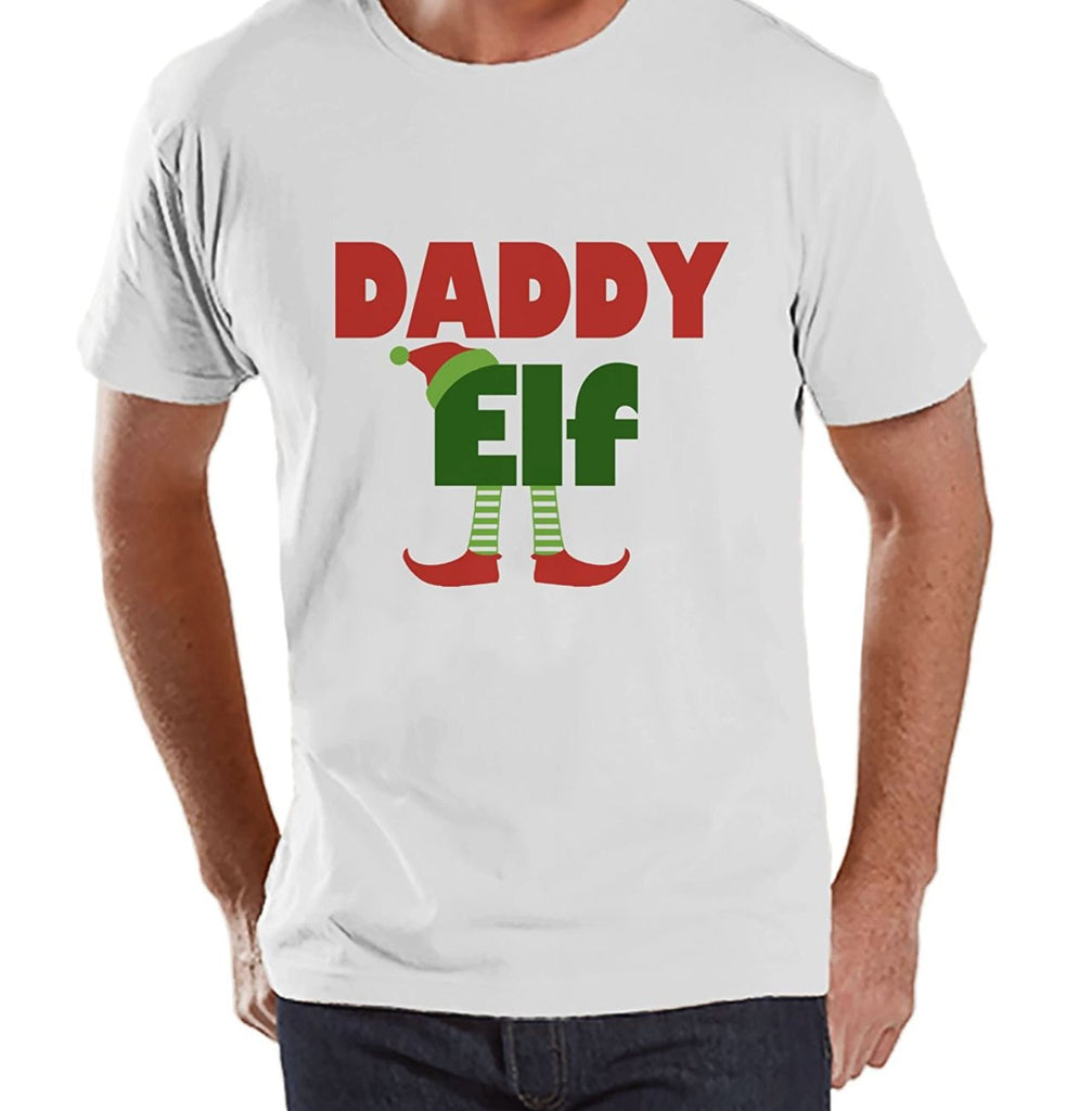 7 ate 9 Apparel Mens Daddy Elf Christmas T-shirt