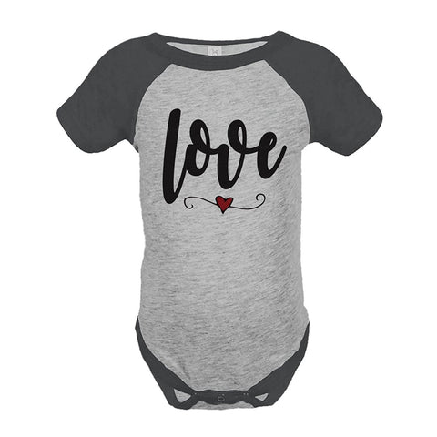 Custom Party Shop Kids Love Heart Happy Valentine's Day Grey Onepiece