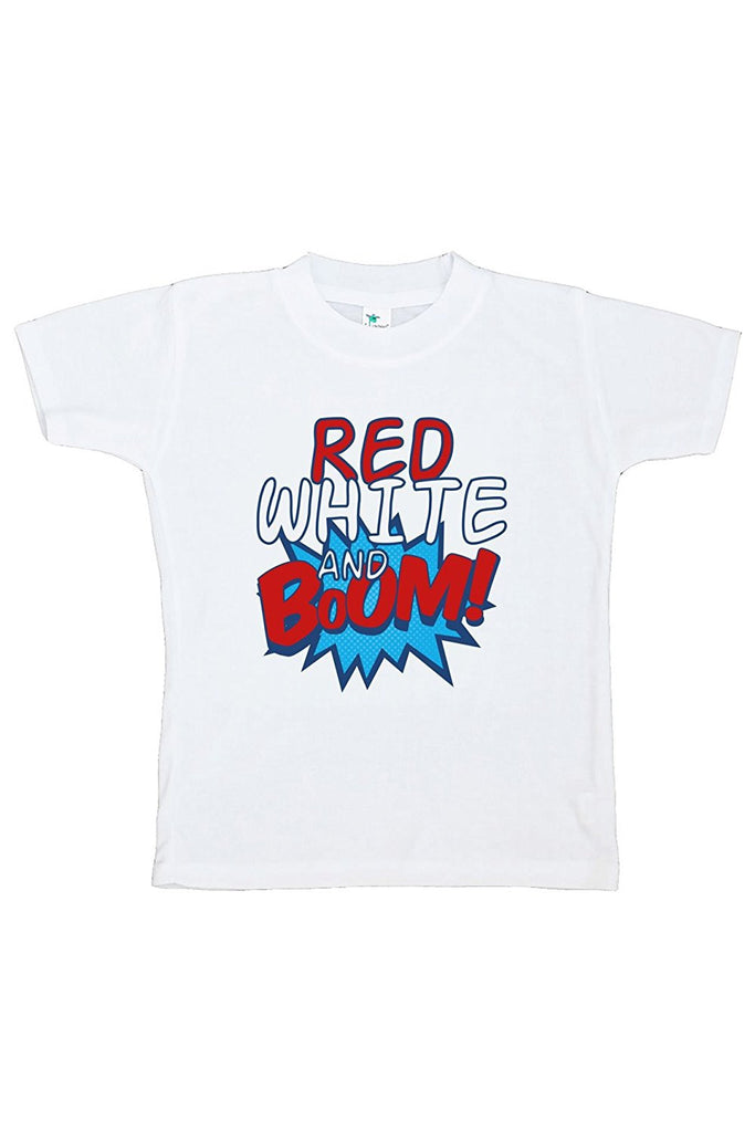 7 ate 9 Apparel Kids Red White & Boom 4th of July T-shirt
