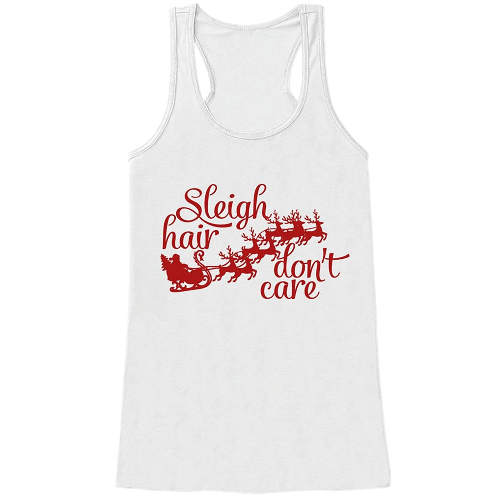7 ate 9 Apparel Womens Sleigh Hair Funny Christmas Tank Top