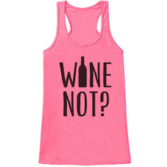 7 ate 9 Apparel Womens Wine Not Funny Tank Top