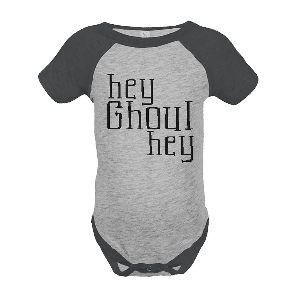 7 ate 9 Apparel Baby's Hey Ghoul Hey Funny Halloween Onepiece