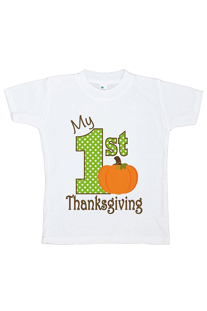7 ate 9 Apparel Baby's 1st Thanksgiving Tshirt