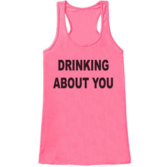 7 ate 9 Apparel Womens Drinking About You Funny Tank Top