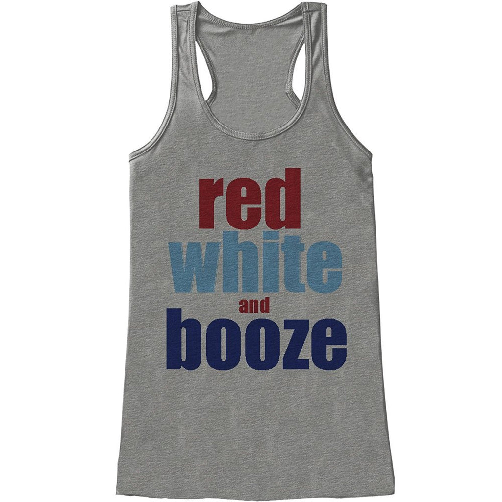 7 ate 9 Apparel Ladie's Red White and Booze 4th of July Tank Top