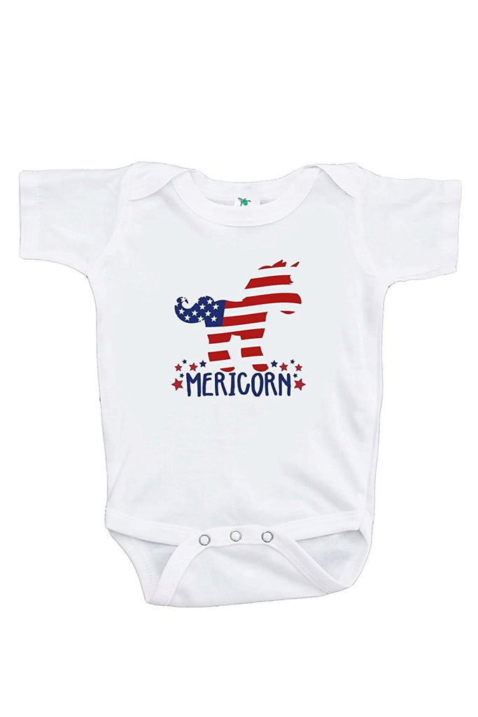 7 ate 9 Apparel Kids Unicorn 4th of July Onepiece