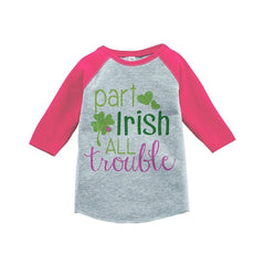 7 ate 9 Apparel Girls' St. Patrick's Day Vintage Baseball Tee