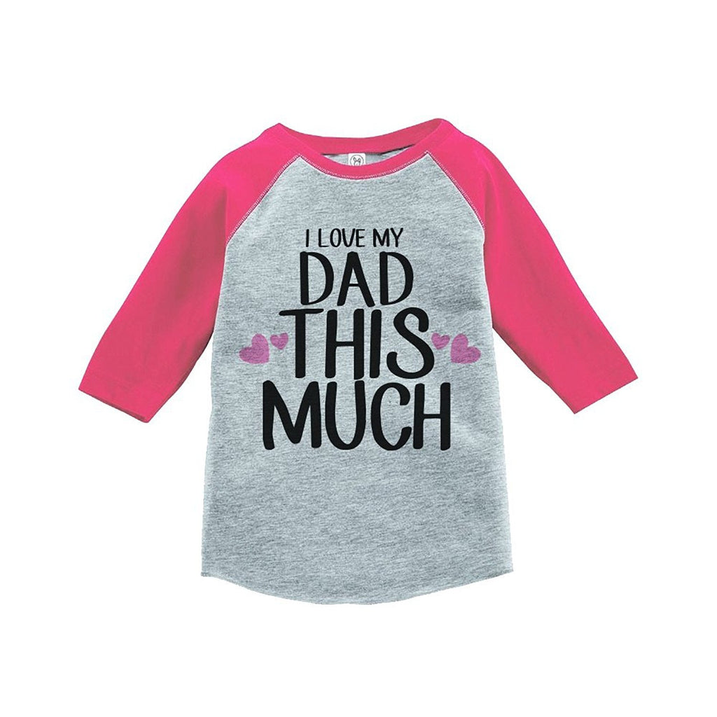 7 ate 9 Apparel Girls' Father's Day Vintage Baseball Tee