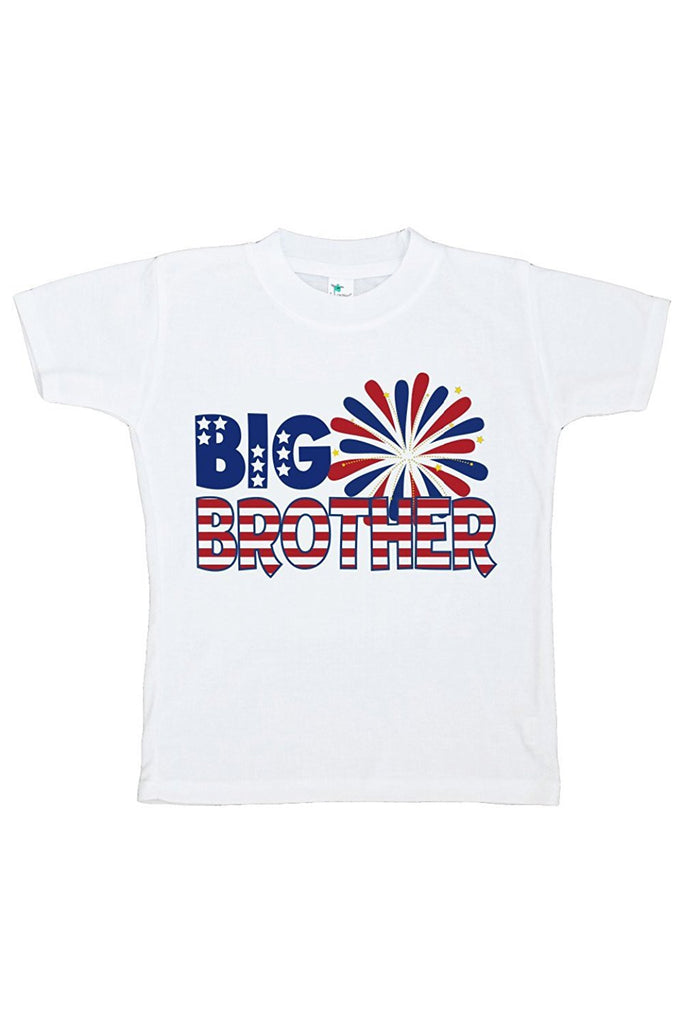 7 ate 9 Apparel Boy's Big Brother 4th of July T-shirt