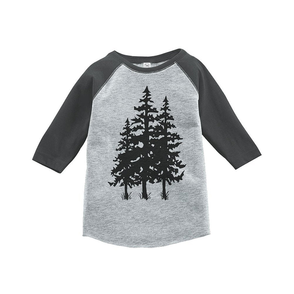 7 ate 9 Apparel Unisex Trees Outdoors Raglan Tee