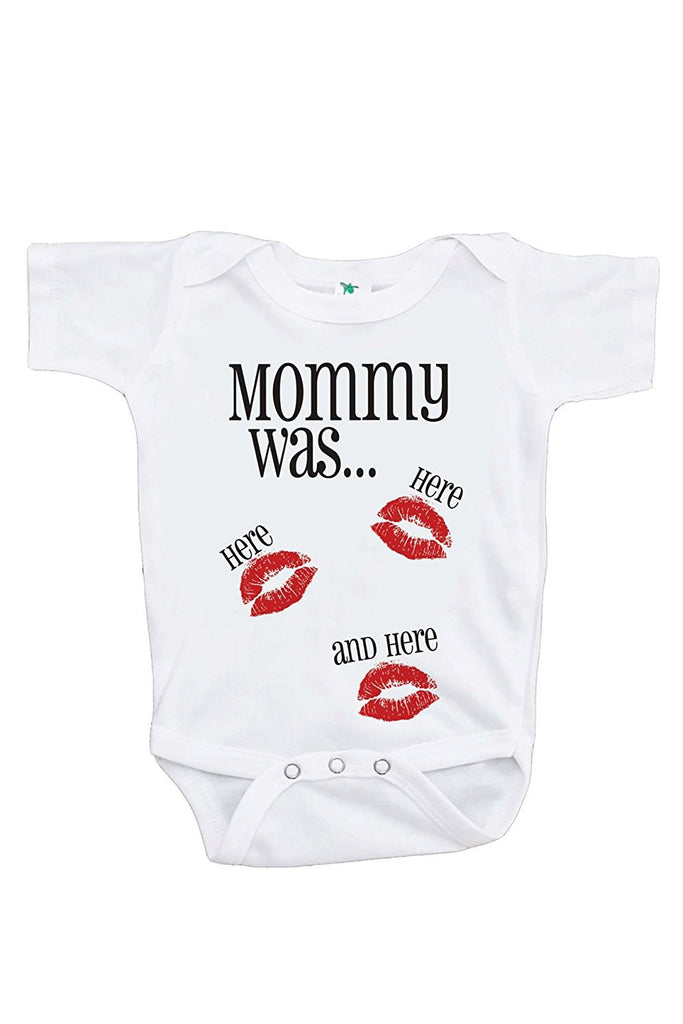 7 ate 9 Apparel Baby's Mommy Was Here Valentine's Day Onepiece