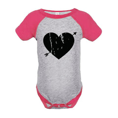 7 ate 9 Apparel Kids Heart Happy Valentine's Day Pink Onepiece