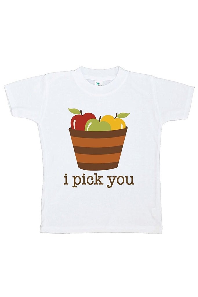 7 ate 9 Apparel Baby's I Pick You Thanksgiving Tshirt