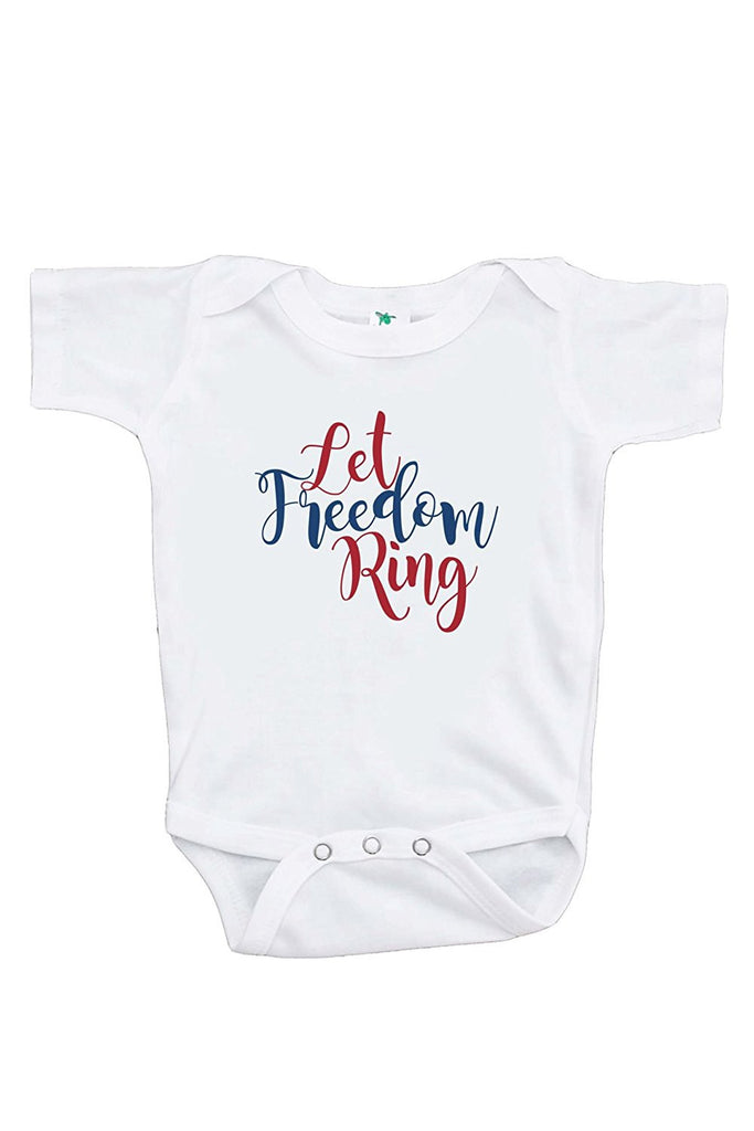 7 ate 9 Apparel Kids Let Freedom Ring 4th of July Onepiece