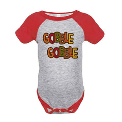7 ate 9 Apparel Baby's Gobble Gobble Thanksgiving Onepiece
