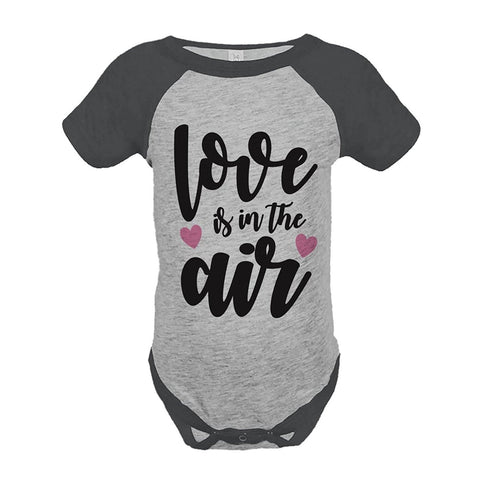 Custom Party Shop Kids Love is in the Air Valentine's Day Grey Onepiece