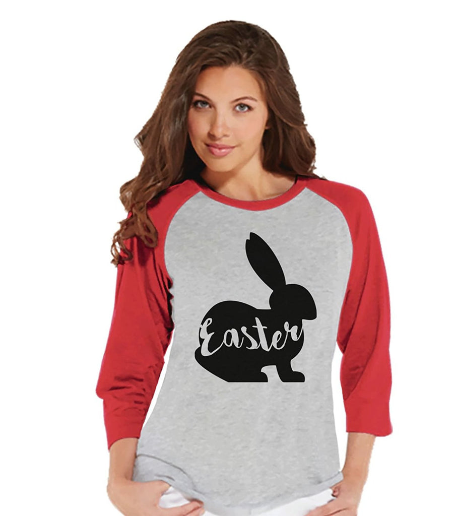7 ate 9 Apparel Womens Easter Bunny t-shirt