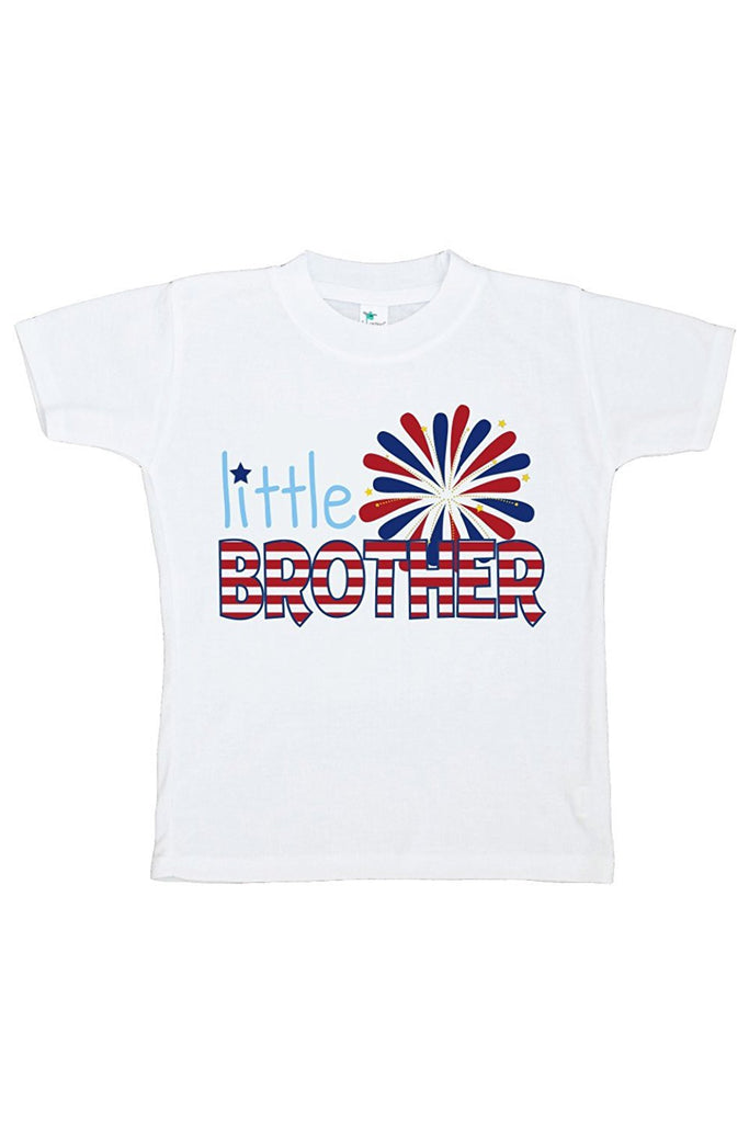 7 ate 9 Apparel Boy's Little Brother 4th of July T-shirt