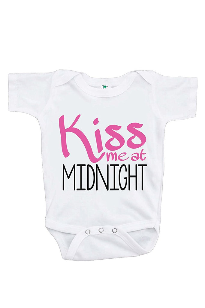7 ate 9 Apparel Baby's Kiss Me At Midnight Happy New Year Onepiece