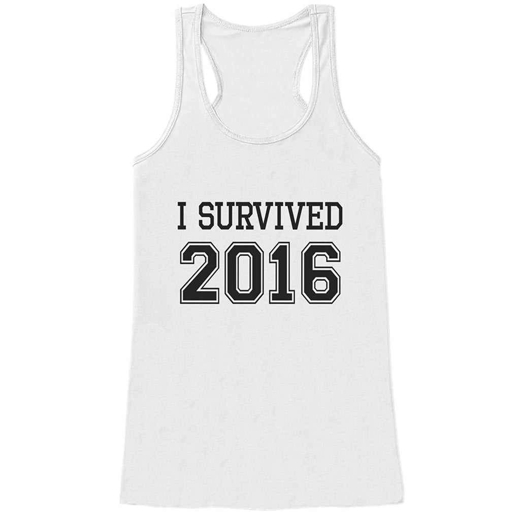 7 ate 9 Apparel Women's I Survived 2016 New Years Tank Top