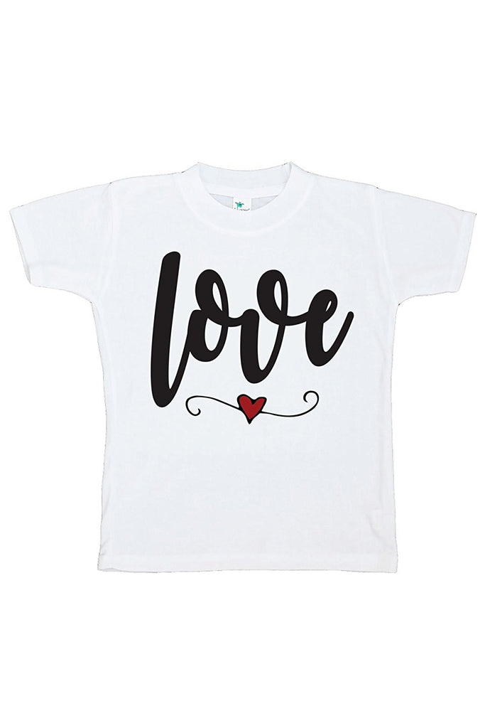 7 ate 9 Apparel Kids Love Heart Happy Valentine's Day T-shirt
