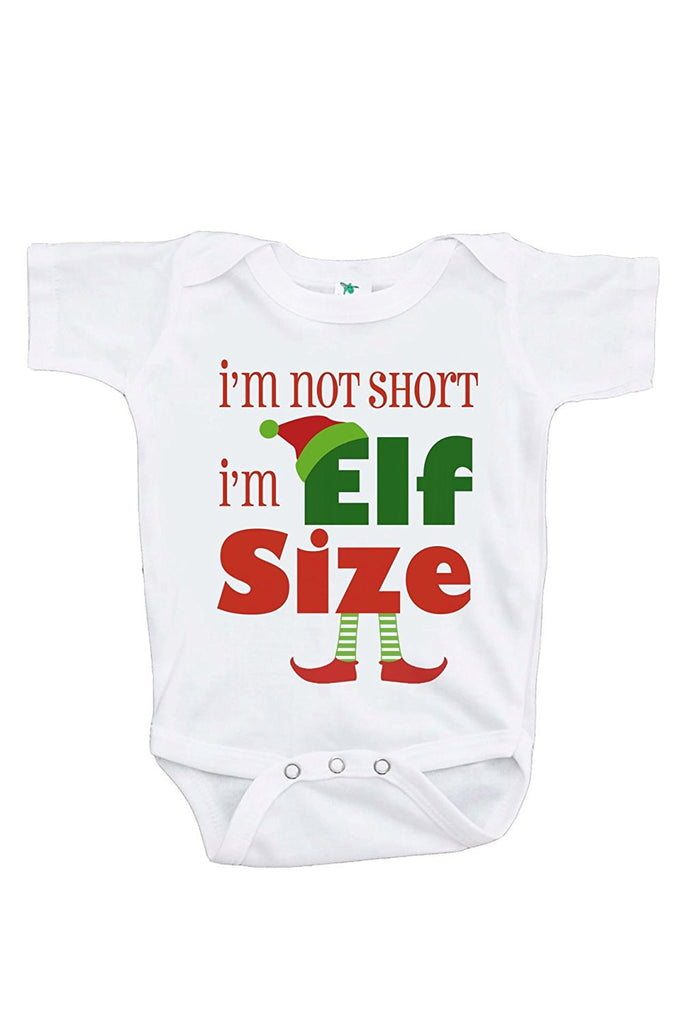 7 ate 9 Apparel Baby's Funny Elf Size Christmas Onepiece