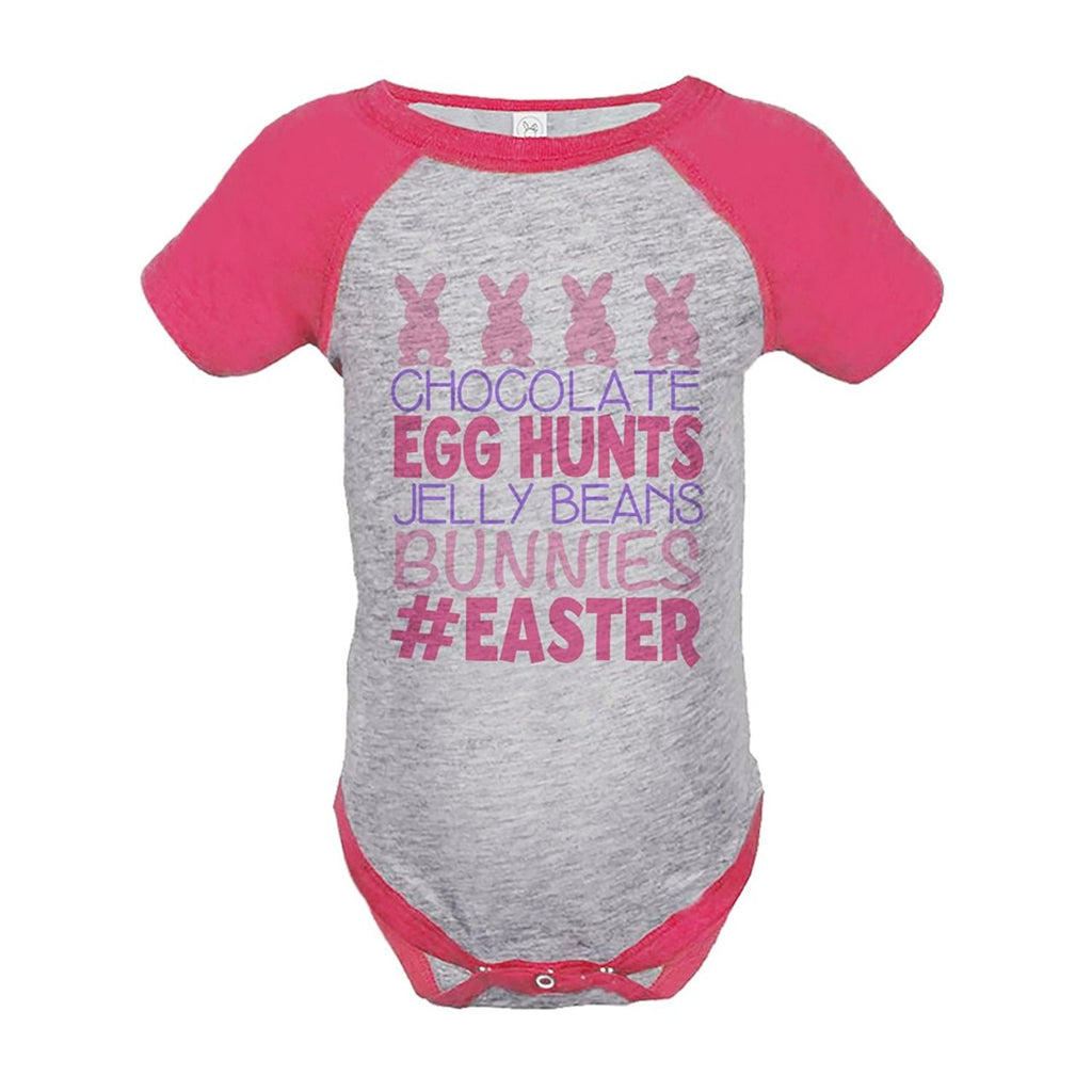 7 ate 9 Apparel Baby Girls #Easter Happy Easter Pink Onepiece
