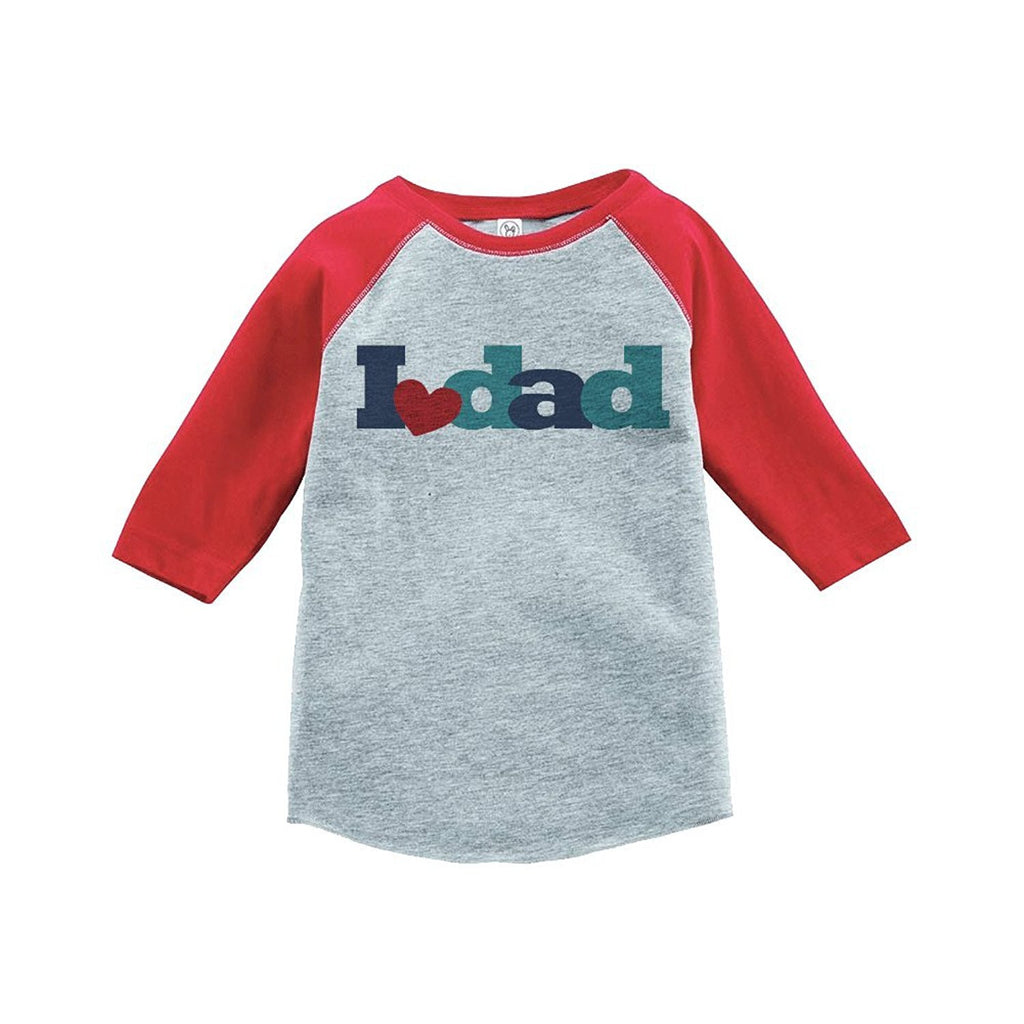 7 ate 9 Apparel Boy's Father's Day Vintage Baseball Tee