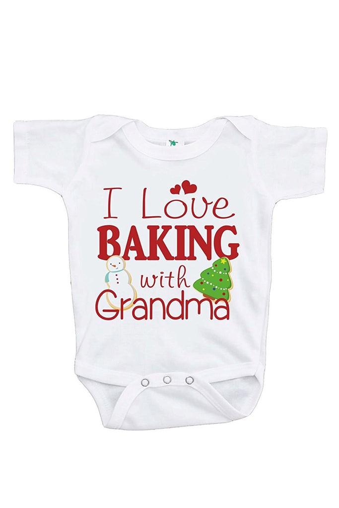 7 ate 9 Apparel Baby's Baking With Grandma Christmas Onepiece