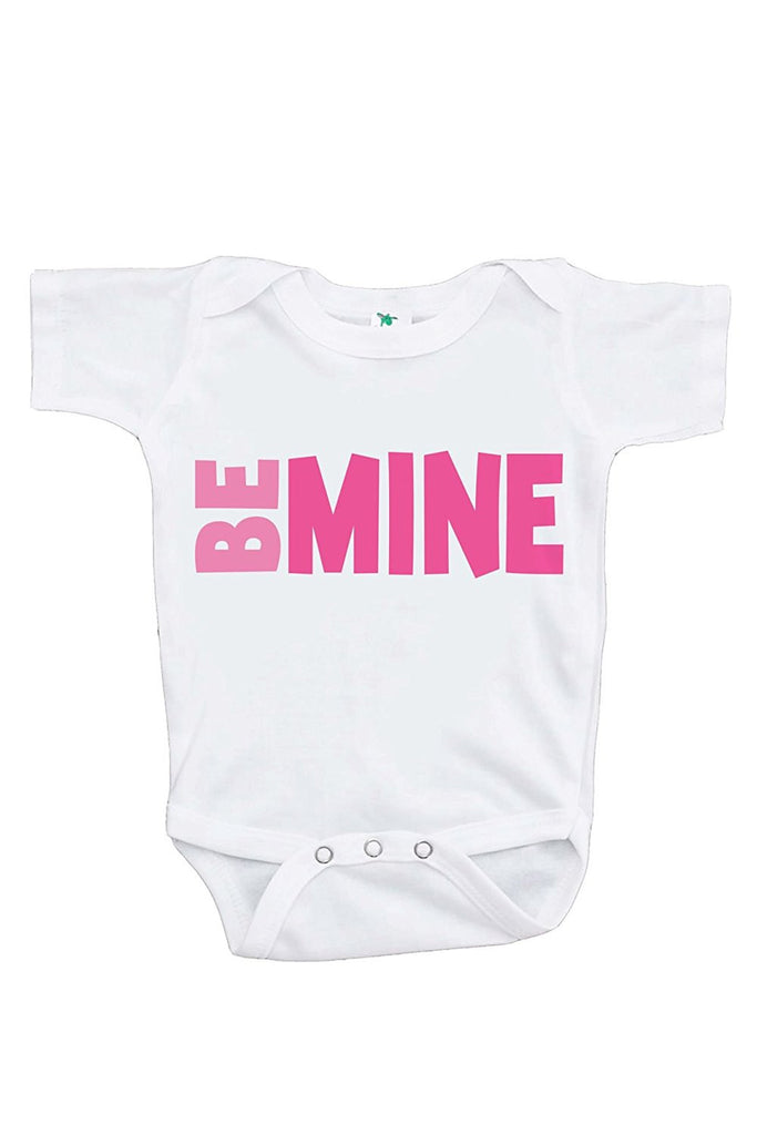 7 ate 9 Apparel Baby's Be Mine Happy Valentine's Day Onepiece